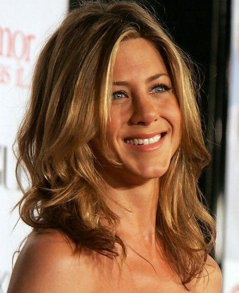 Jennifer Aniston Medium Length Hairstyle Wavy Haircut