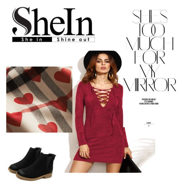 """""""Burgundy Dress 1"""" by rmauschenfangs ❤ liked on Polyvore featuring Burberry and Rika"""