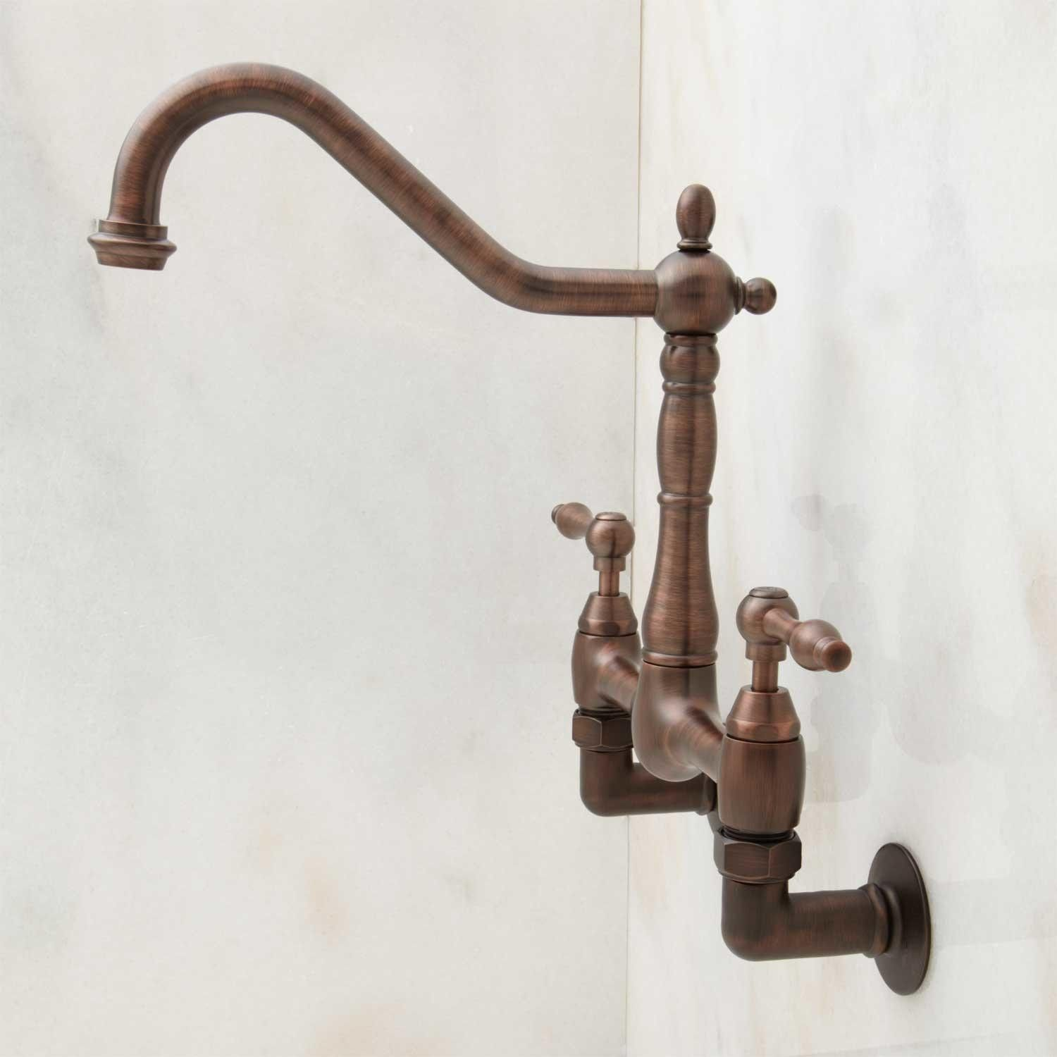 Felicity Wall-Mount Kitchen Faucet | Wall mount kitchen faucet, Wall ...