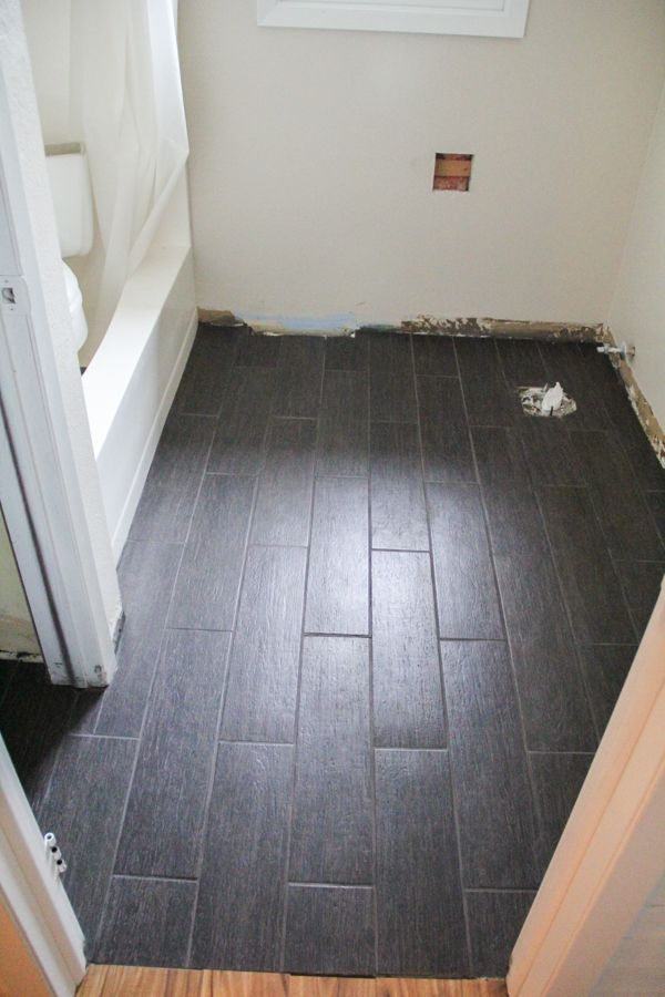 Diy Plank Tile Floor Fail Tile Flooring Woods And Doors