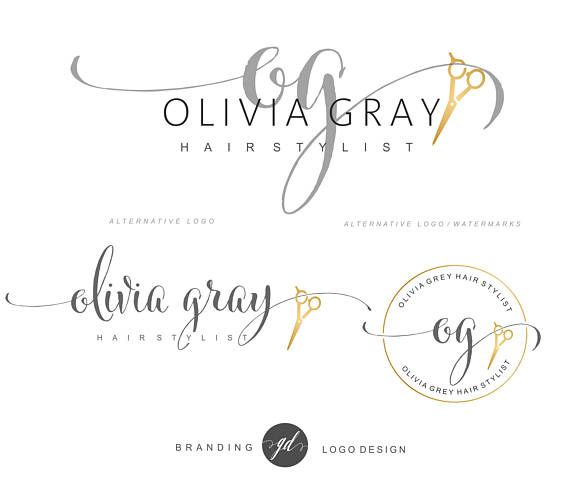 Hair Stylist logo Salon Logo design Scissors Logo kit Projects - hair dresser resume