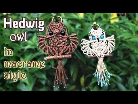 (30) Macrame owl tutorial - The beautiful Hedwig of Harry Potter - Step by step giude - YouTube