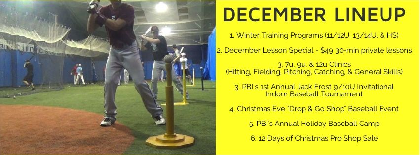 Http Www Baseballclinics Com Pbis Holiday Lineup Card Winter Training December Lessons Private Lessons