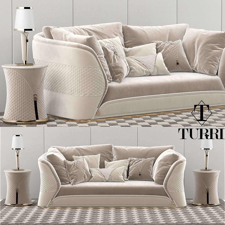 3d Model Turri Vogue Sofa 141 Free Download Sofa Set Sofa Furniture