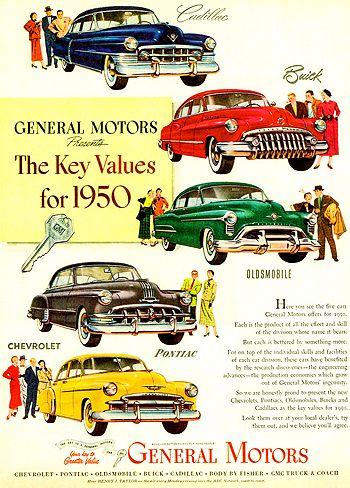 A GM All Ad A Classic Car Ads Pinterest General Motors Motor - Classic car ads