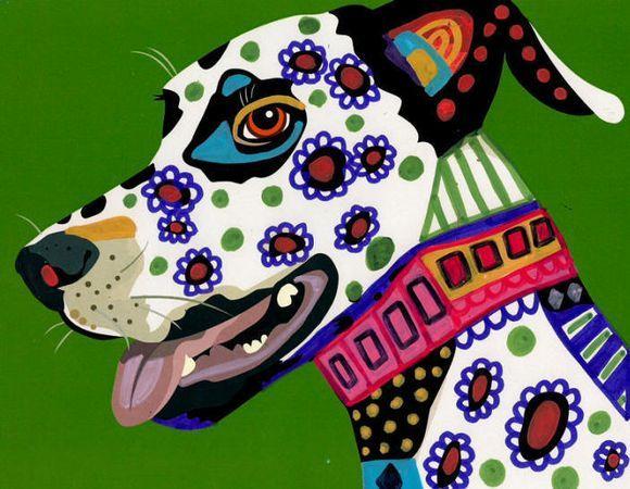 Abstract Pet Paintings | PRINT Dalmatian Pet Abstract Dog Modern Art Painting | eBay