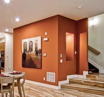Burnt Orange Accent Wall Orange Bedroom Walls Living Room
