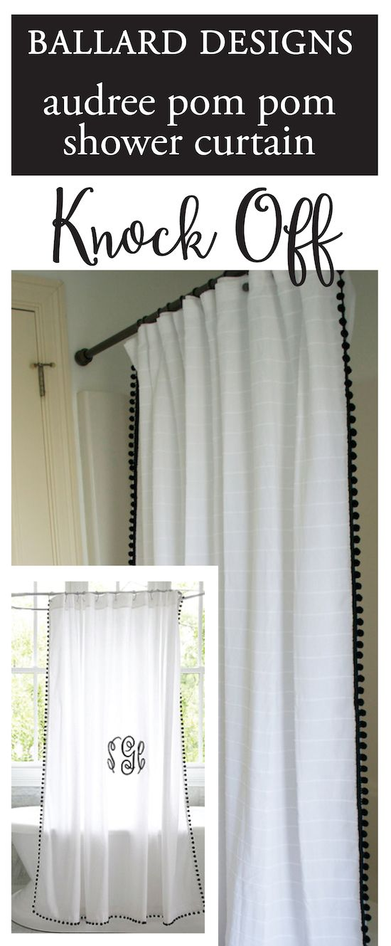 Ballard Designs Shower Curtain Knock-Off & Hardware Update ...