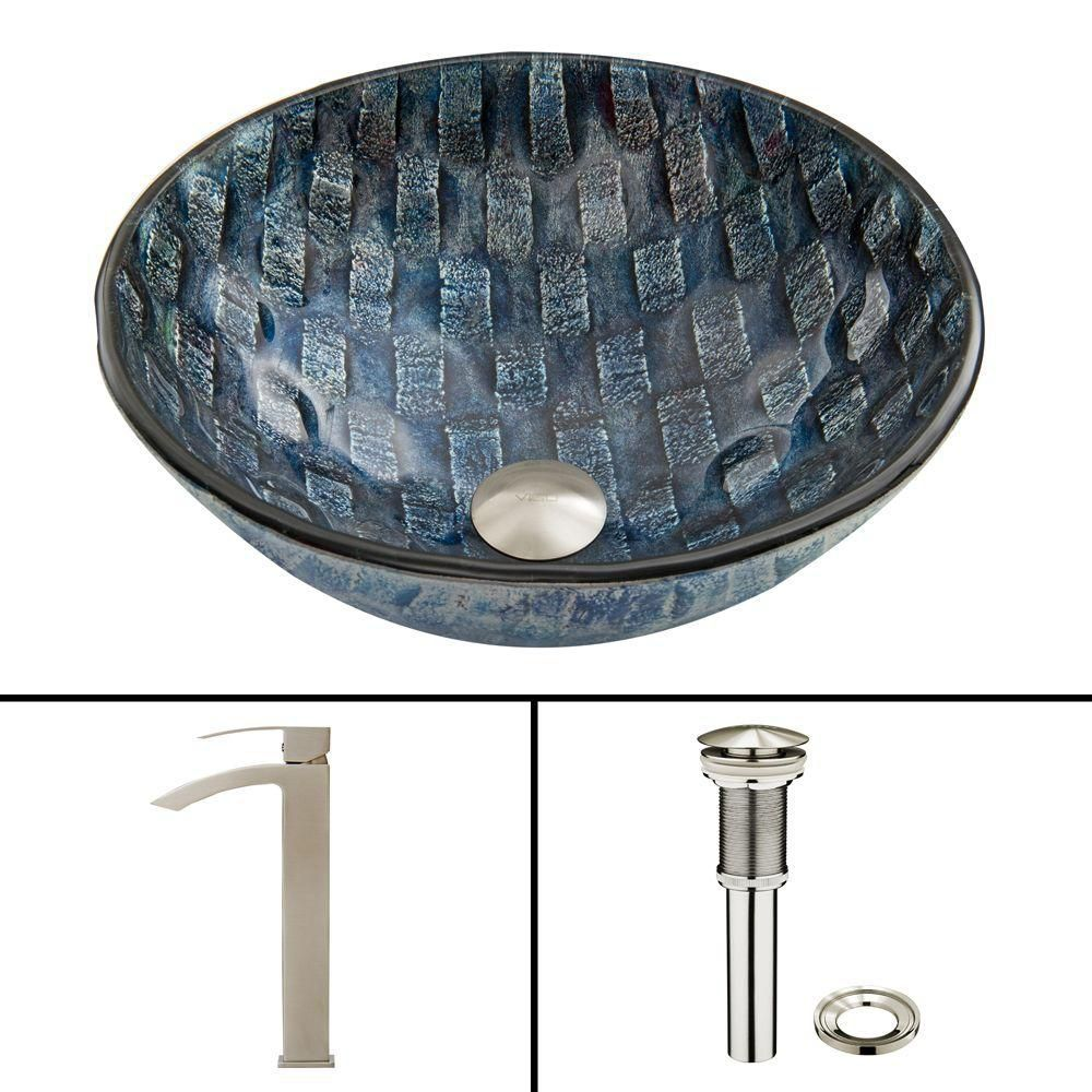 Glass Vessel Sink in Rio with Duris