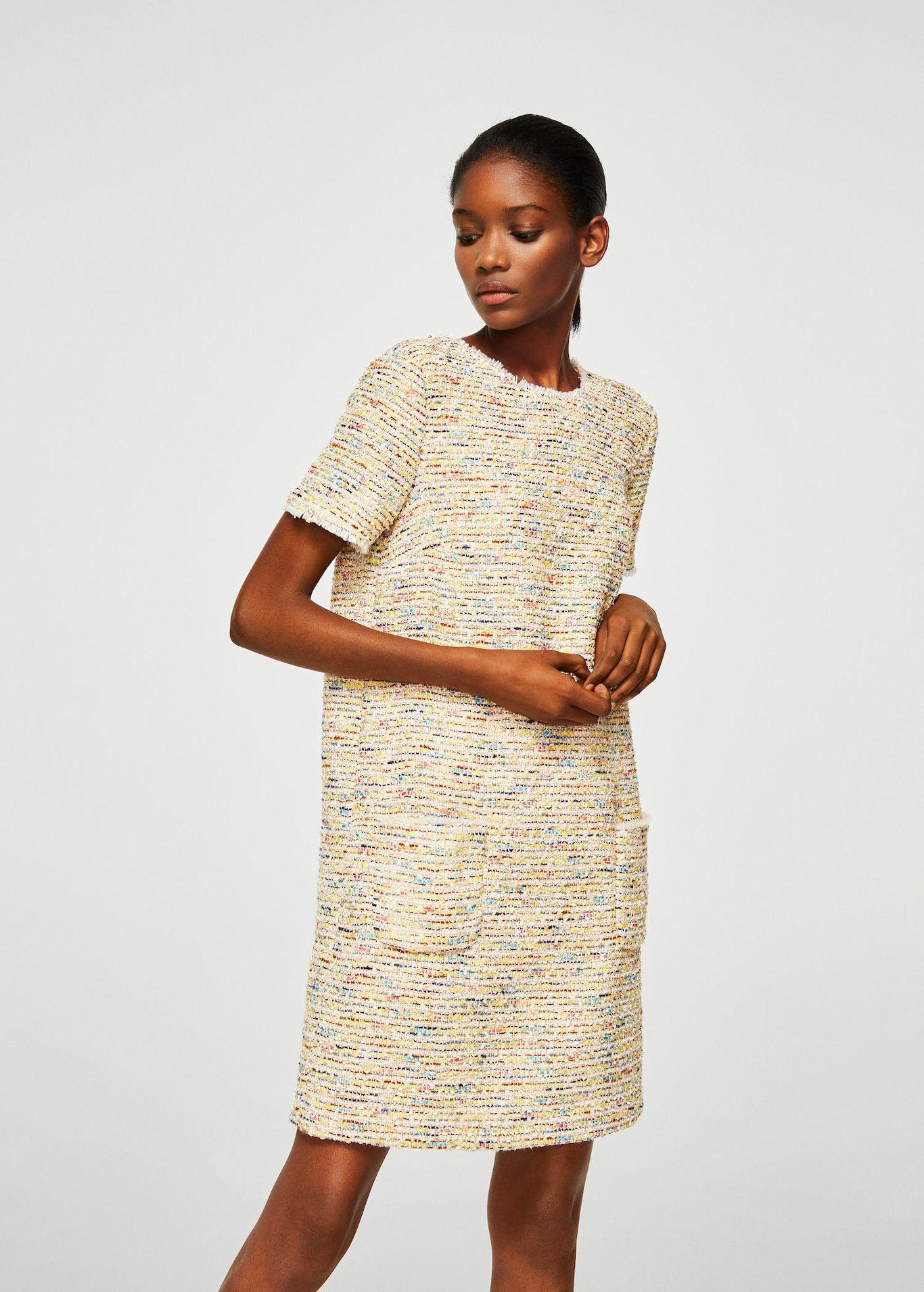 Robe tweed à poches - Femme   mode   Pinterest   Tweed, Robe et ... fb17c0169d21