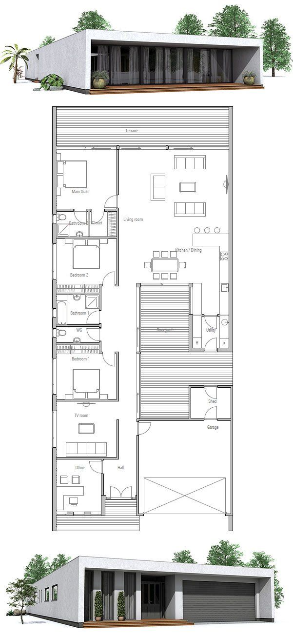House plan from my home pinterest for Concept home com