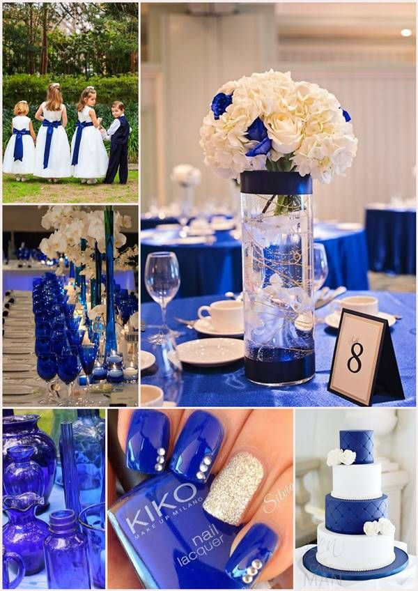 mariage bleu roi + blanc / Carnet inspiration blog mariage Mademoiselle  Cereza inspirations