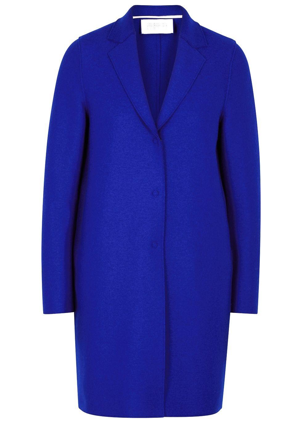 5a95a88a Cobalt Blue Wool Coat | Harris Wharf London | coats, sweaters and ...
