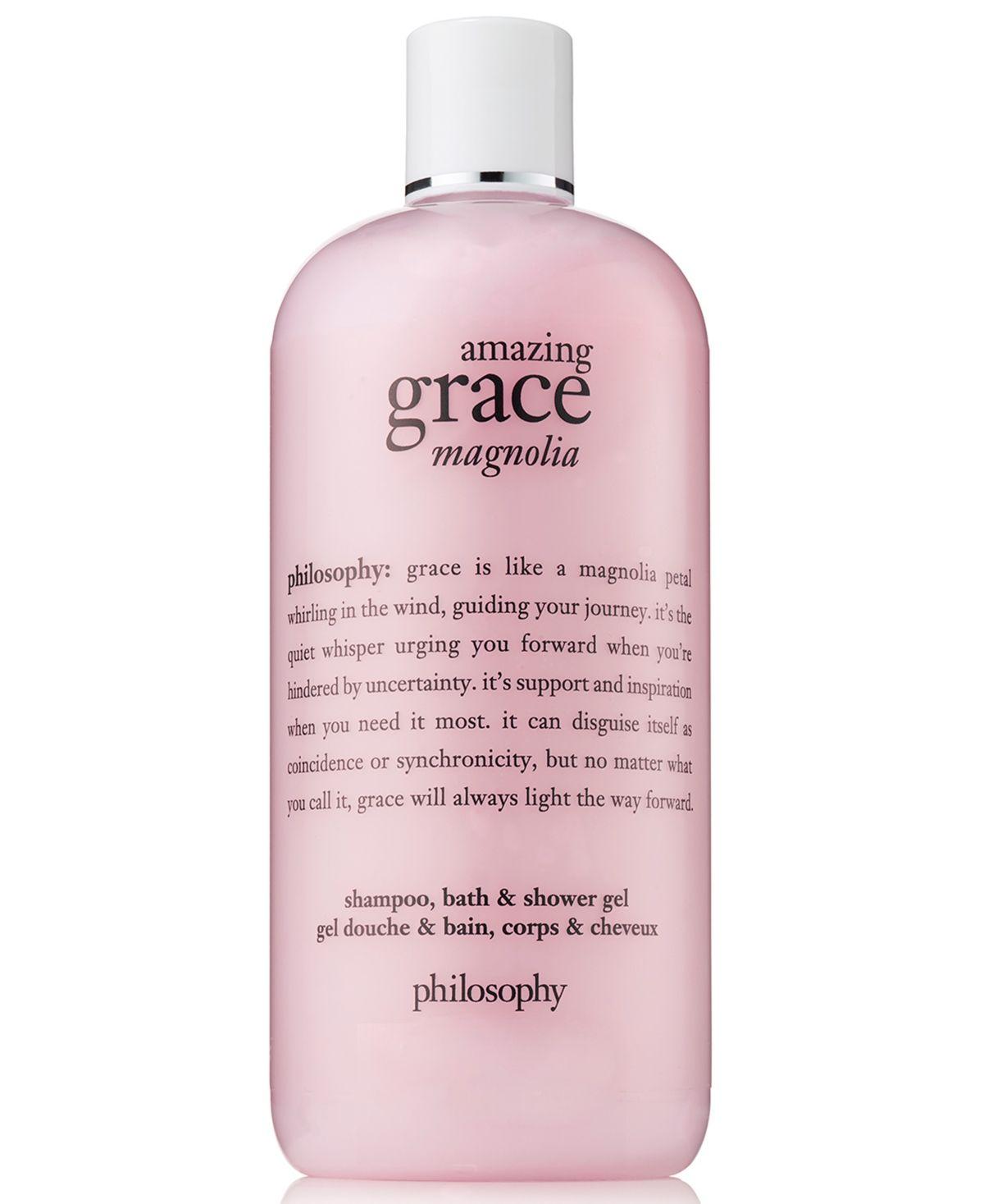 Philosophy Amazing Grace Magnolia Shampoo Bath Shower Gel 16 Oz Reviews Beauty Macy S Philosophy Amazing Grace Shower Gel Amazing Grace