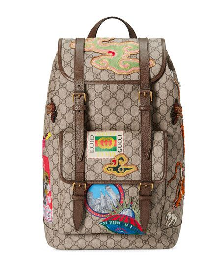 b9e3fb61175 GUCCI Gucci Courier Soft Gg Supreme Backpack