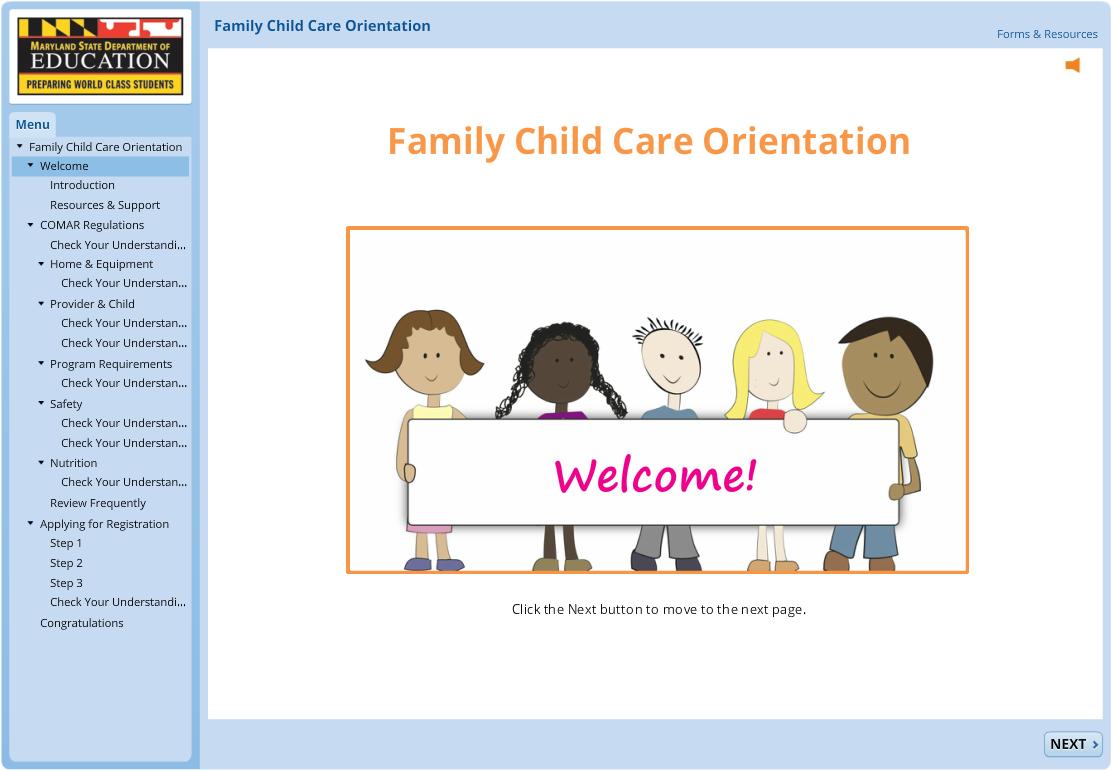 Family Child Care Orientation