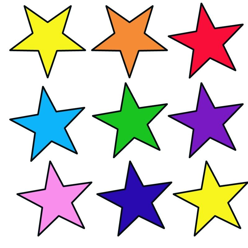 Molde De Estrela Para Imprimir 15 Modelos Para Recortar Com