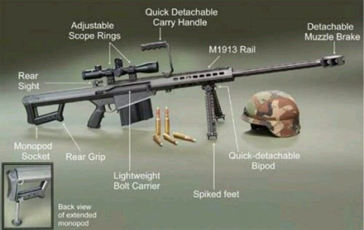 The US Army M 107 50 Caliber LRSR Want A Tattoo Of Dads Gun O My
