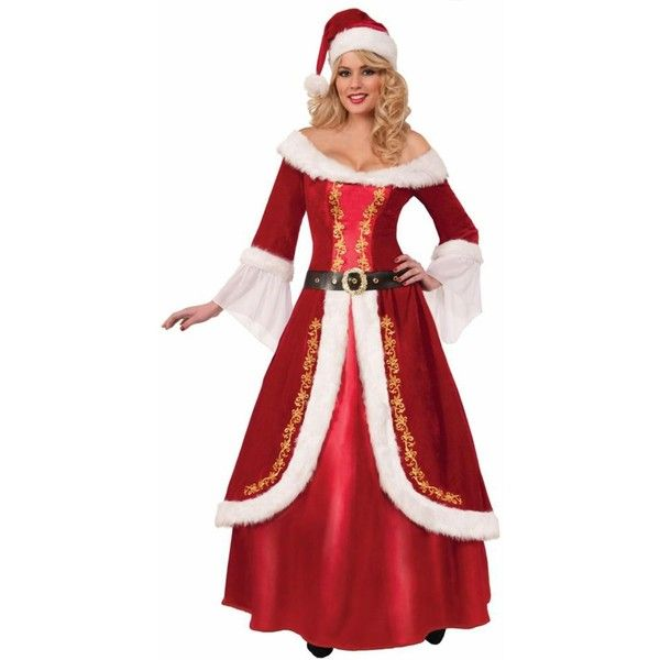 Ladies Premium Mrs. Claus Costume ($88) ? liked on Polyvore featuring costumes  sc 1 st  Pinterest : ladies santa costume  - Germanpascual.Com