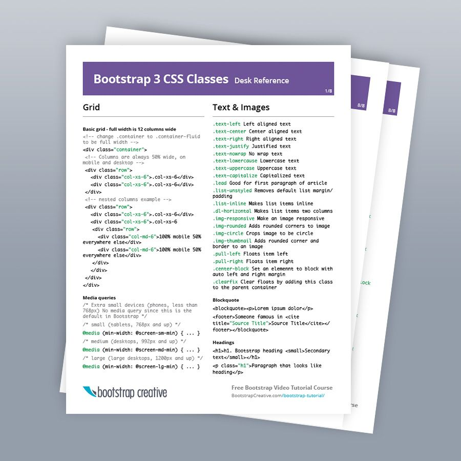 Bootstrap 3 cheat sheet classes list table with preview image bootstrap 3 cheat sheet classes list table with preview image and text description baditri Image collections