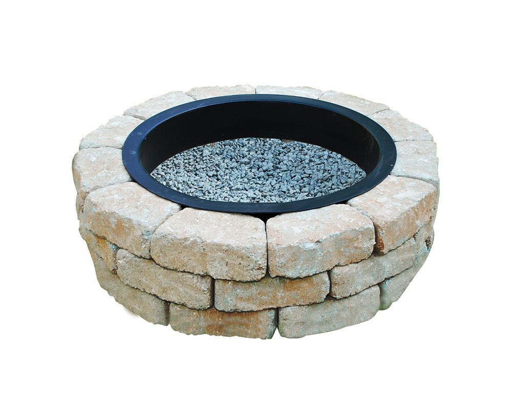 Oldcastle Earth Blend Firepit Kit The Home Depot Canada Fire