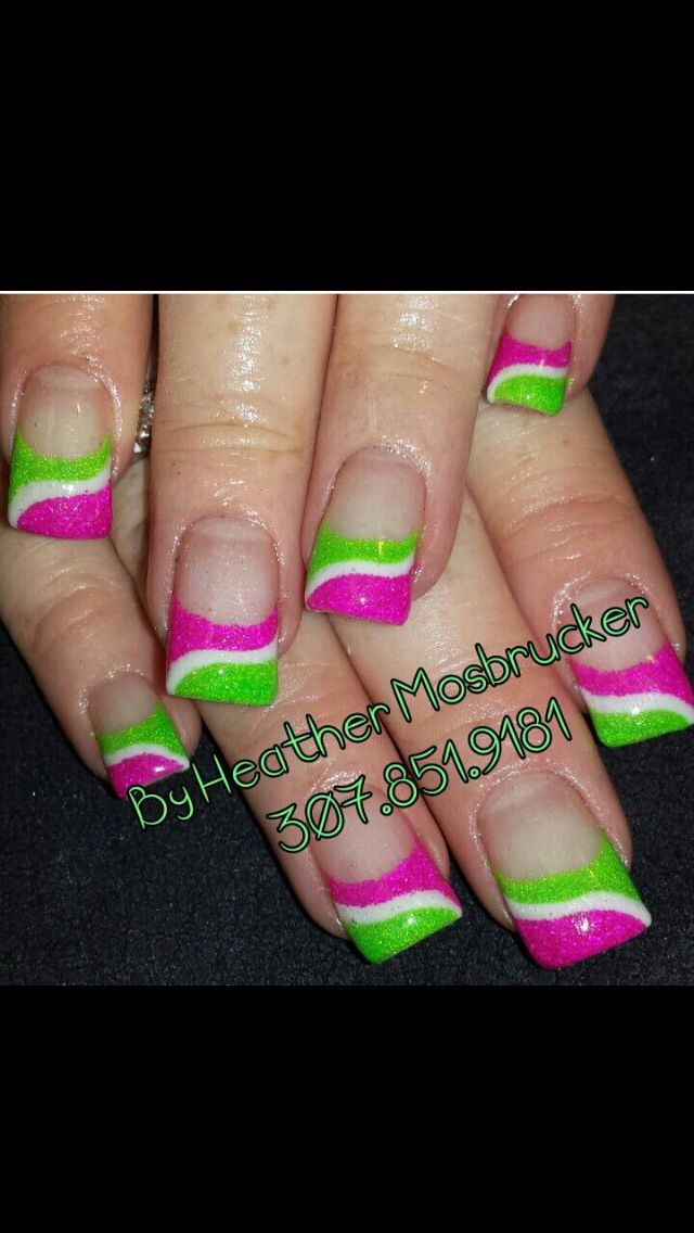 Pink and lime green #1 - Pink And Lime Green #1 Nail Art Pinterest Limes, Green Nail
