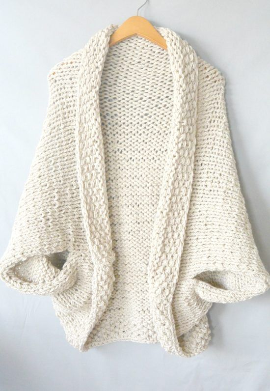 Cocoon Shrug Knitting Pattern Free Tutorial Super Easy