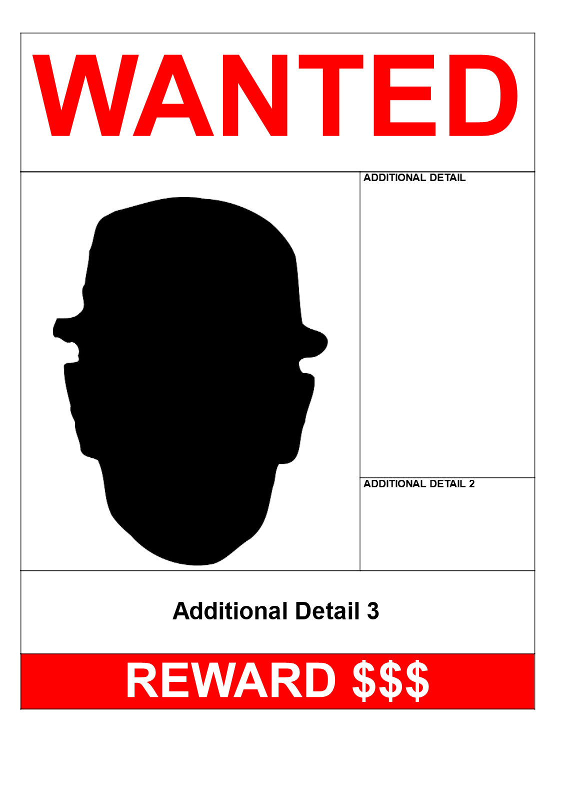 Wanted Poster A Size Design  Download This Wanted Poster A Size