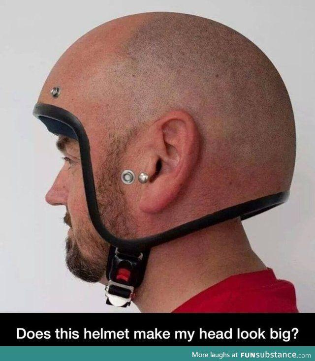 Big Head Helmet Desenho De Capacete Capacete Careca Com Barba