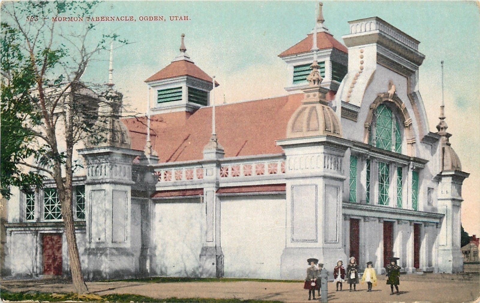 Ogden Ut Ornate Towers Twin Belfreys Mormon Tabernacle 1910