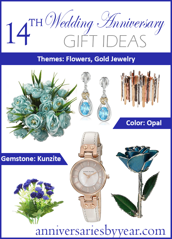 We love these 14th anniversary gift ideas