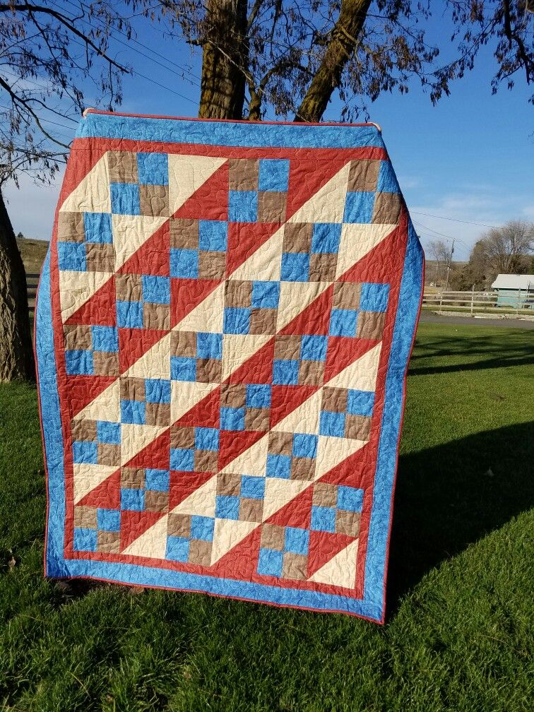 Come Climb With Me quilt. Made with four patch and HST, half ... : patch it to me quilt - Adamdwight.com