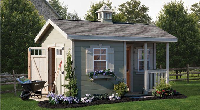 Cottage style garden sheds cottage shed amish yard for Backyard cottage shed