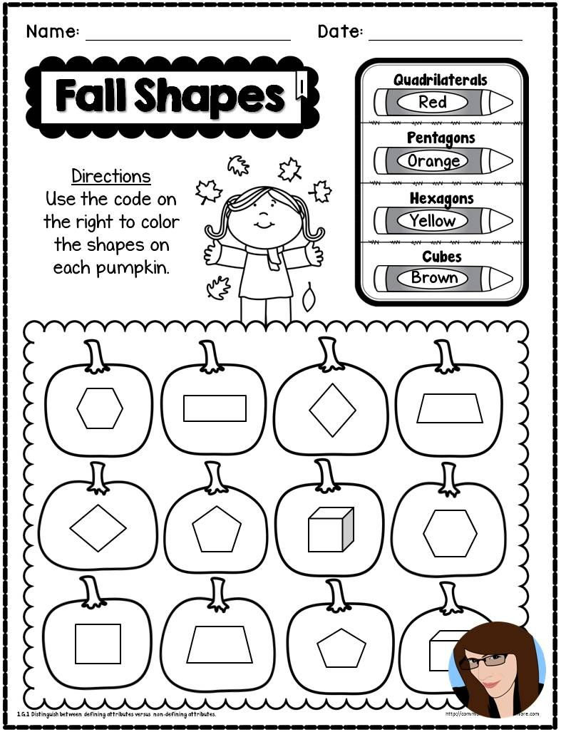 Fall NO PREP Math and Literacy - 1st Grade   Literacy printables [ 1027 x 787 Pixel ]