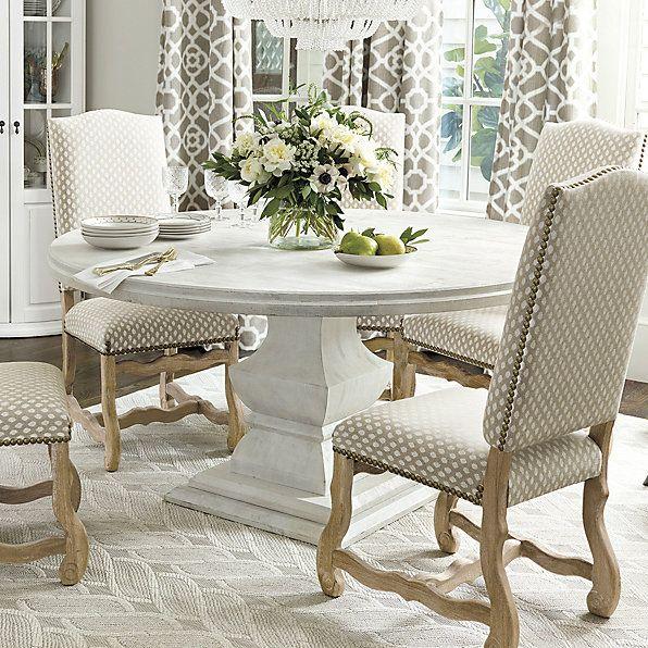 Andrews Pedestal Dining Table Ballard Designs Room Furniture Collections Interior Design