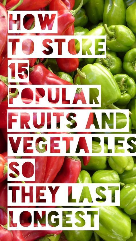 Don't waste money buying expensive fruits and vegetables and letting the spoil! This guide tells you the best method of storing 15 popular fruits and vegetables that you probably either grow in your garden or buy at the supermarket every week. Be smart and frugal with your grocery store purchases.