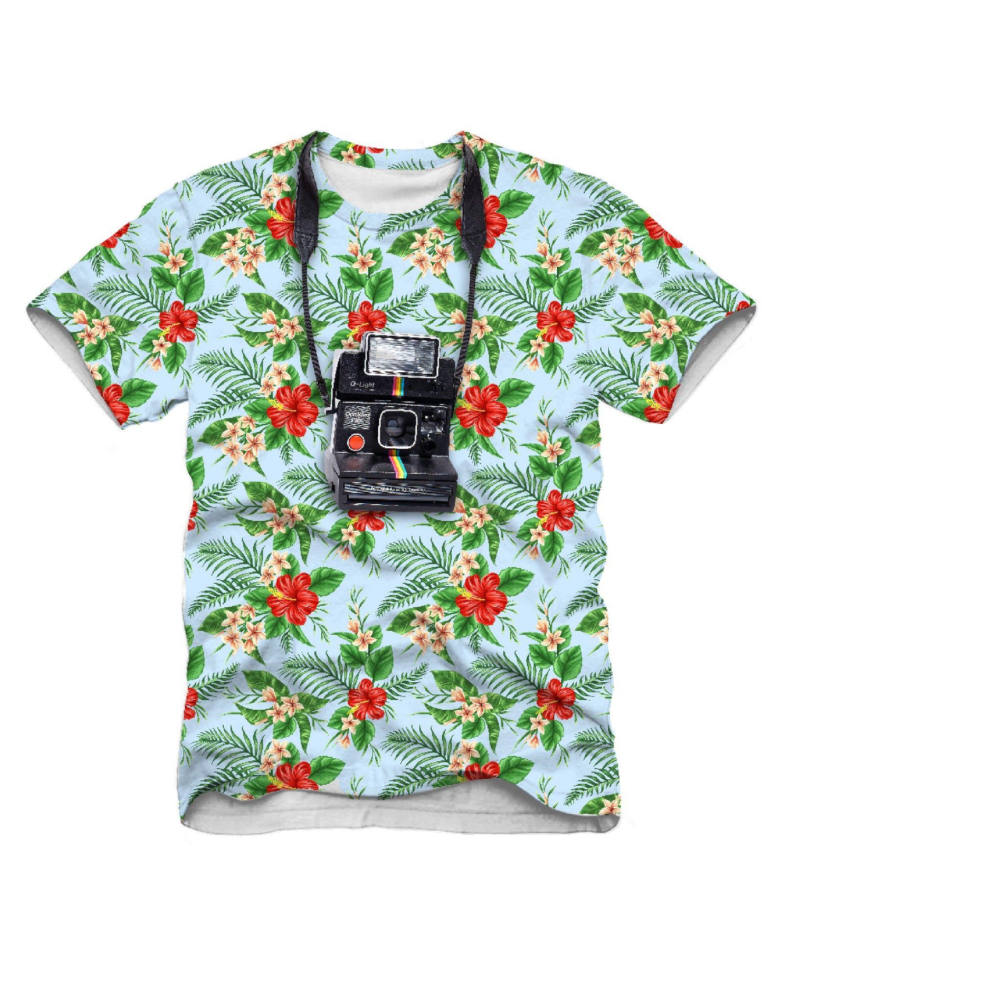 Men's Polaroid Tourist Big & Tall Graphic TShirt Blue