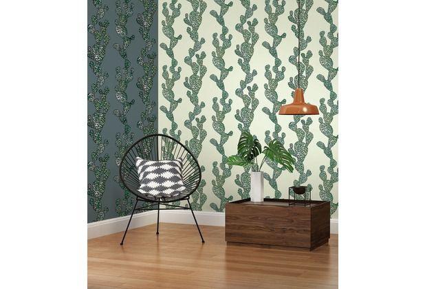 Ein Hauch von Amerika! Coole Tapete mit einem Kaktus-Motiv. Verschönert jeden Raum des Hauses, durch das zeitlose und moderne Design.   #grün #Kaktus #Schlafzimmer #Wohnzimmer #Esszimmer #Büro #Flur  #Tapete #Tapetenideen #Wanddekoration #Hertie  AS Création