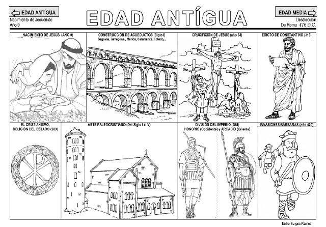 Dibujos De Prehistoria Para Ninos Para Colorear: Antigua, Fichas Y Prehistoria