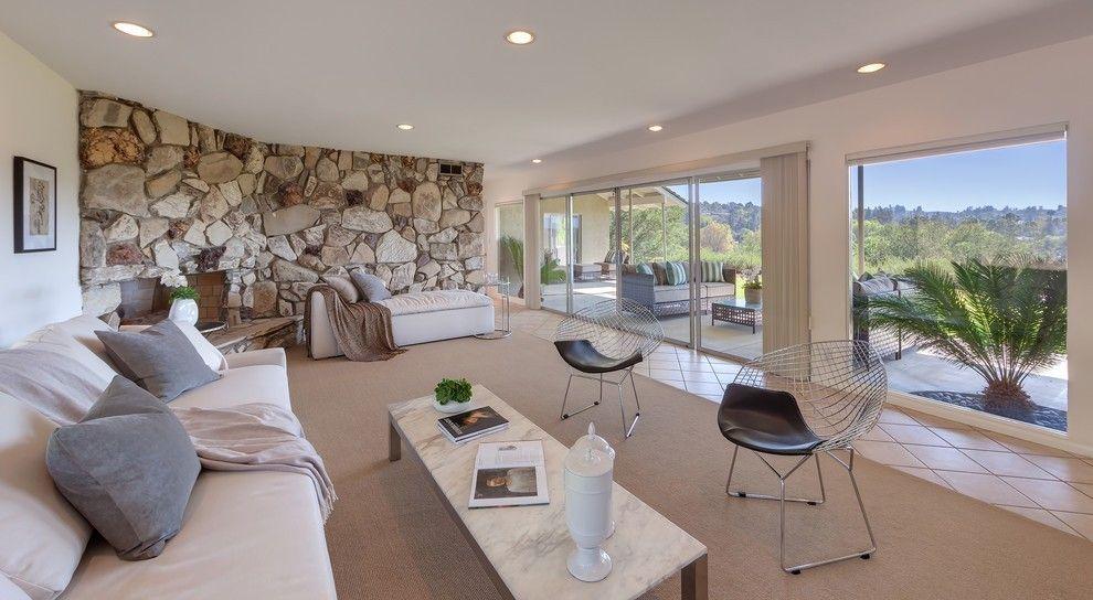 wandverkleidung mit natursteinen Wohnzimmer \u2013 Einrichtungsideen