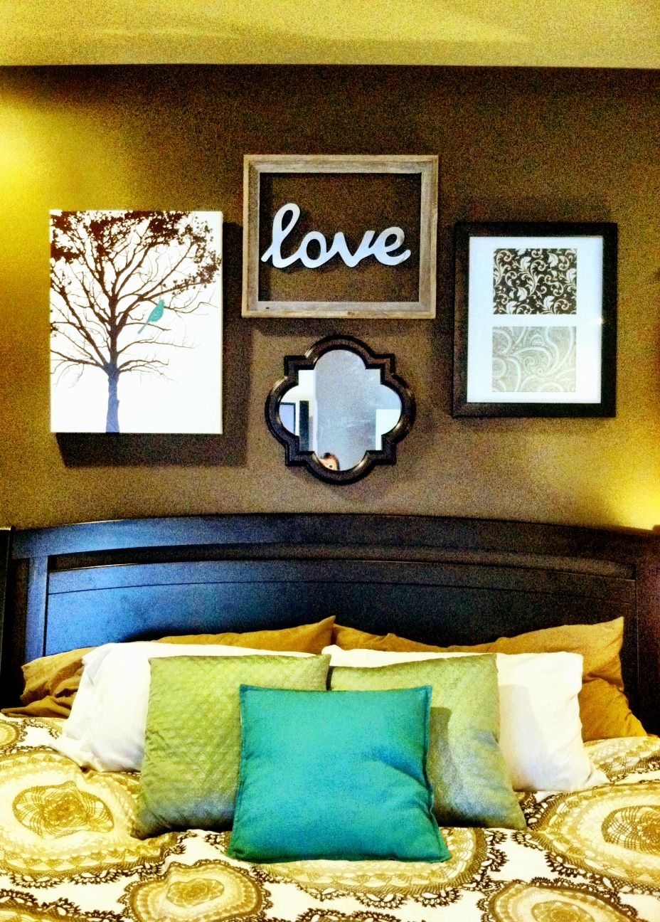 Over bed wall art home bedroom colors u style pinterest