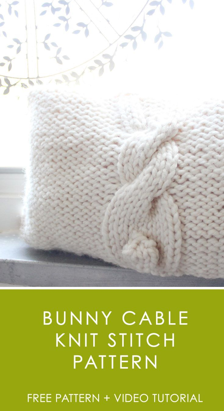 Bunny Cable Knit Stitch Pattern by Studio Knit | Knit Hygge Home ...