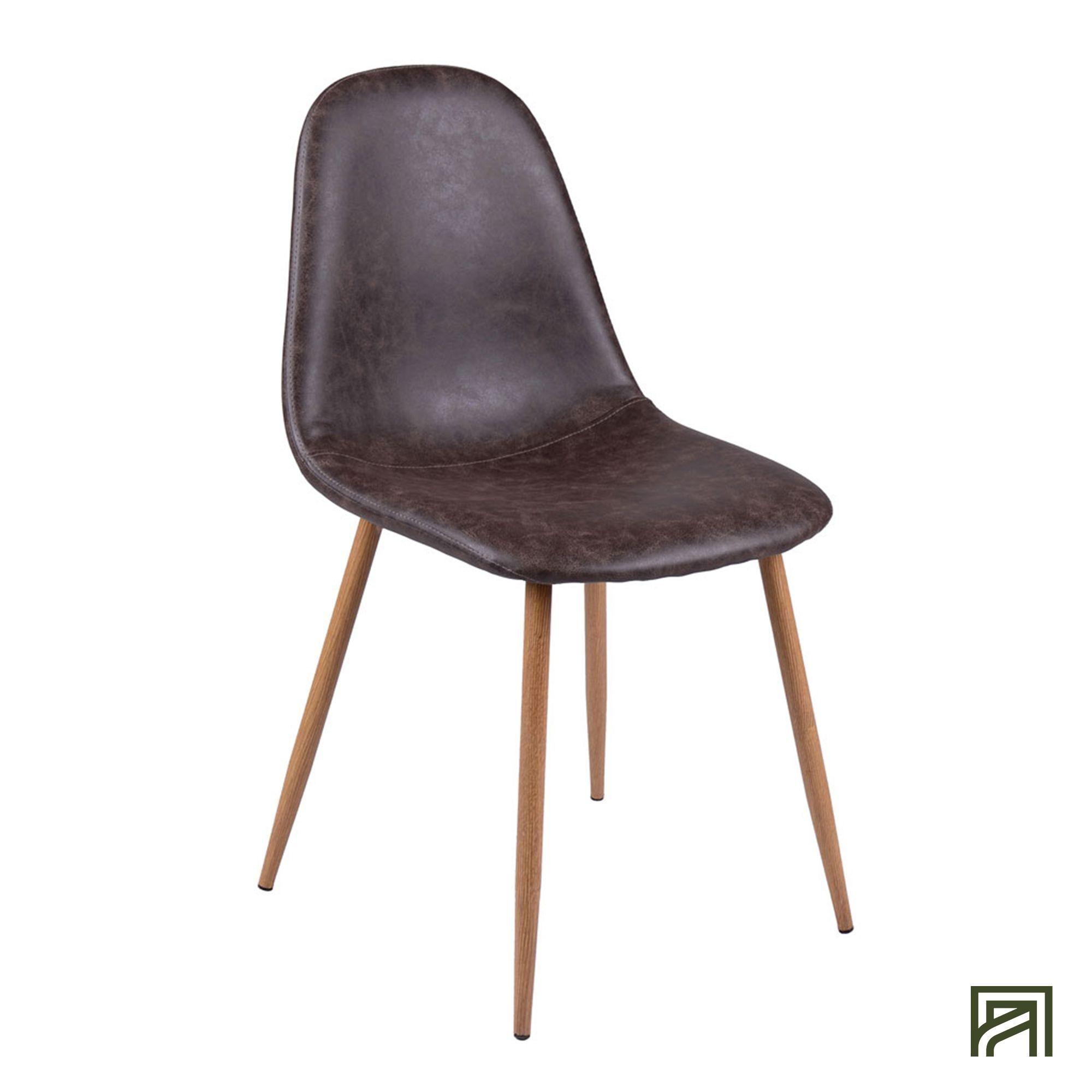alinea : charlie chaise vintage - simili cuir marron - #Alinea