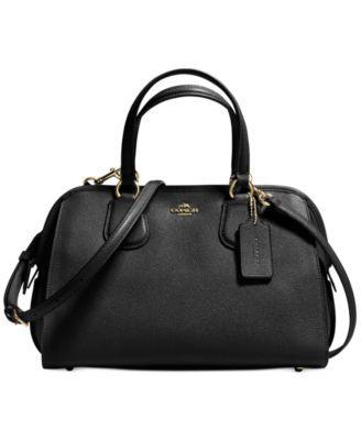 295 Macy S For Winter Coach Nolita Satchel In Crossgrain Leather Black Pursesblack