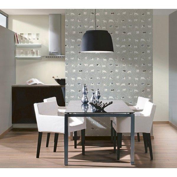 Papier peint Vaches gris souri - collection Kitchen Dreams d\'AS ...
