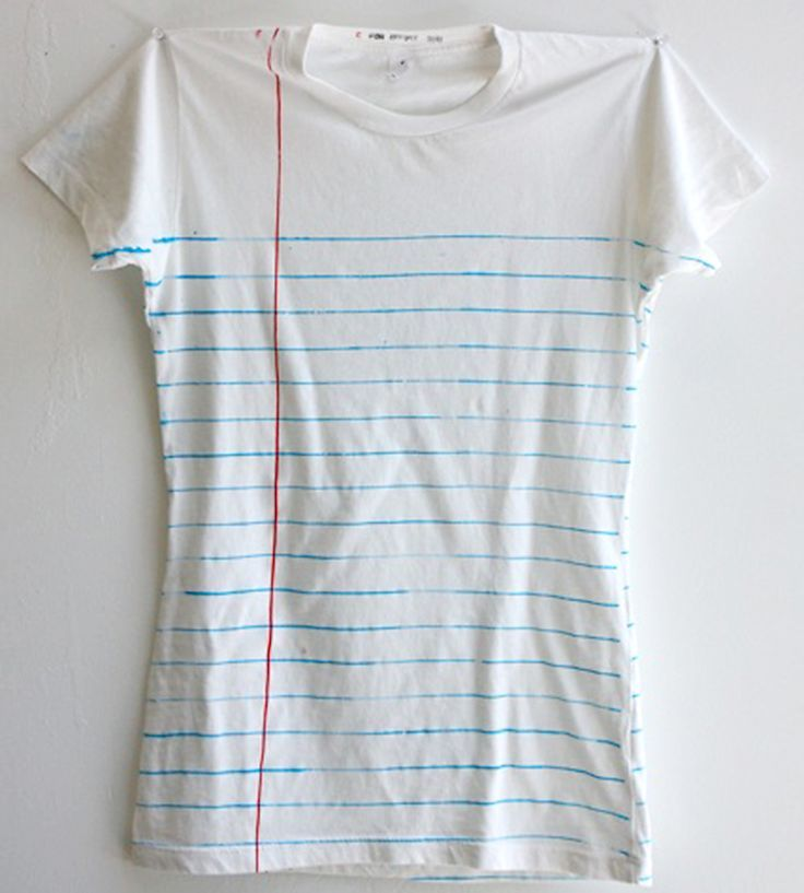 Womenu0027s Loose Leaf Notebook Paper Print T-Shirt Leaves, Printing - Loose Leaf Paper Print