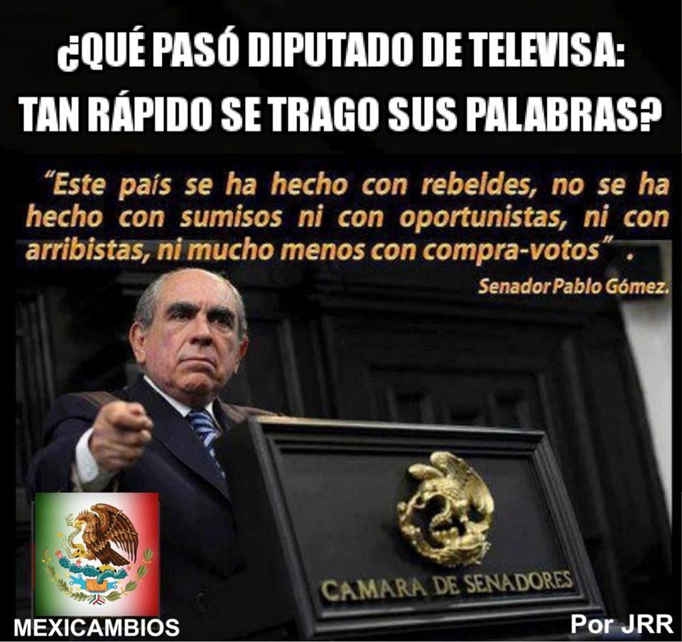 pablo gomez se mordió la lengua al apoyar el pacto CONTRA MEXICO