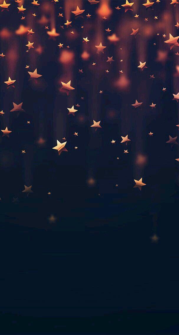 Fondo De Estrellas Doradas Para Personas Alegres,amables
