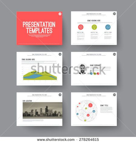 Presentation template - various slides and layouts with graphs and - graphs and charts templates