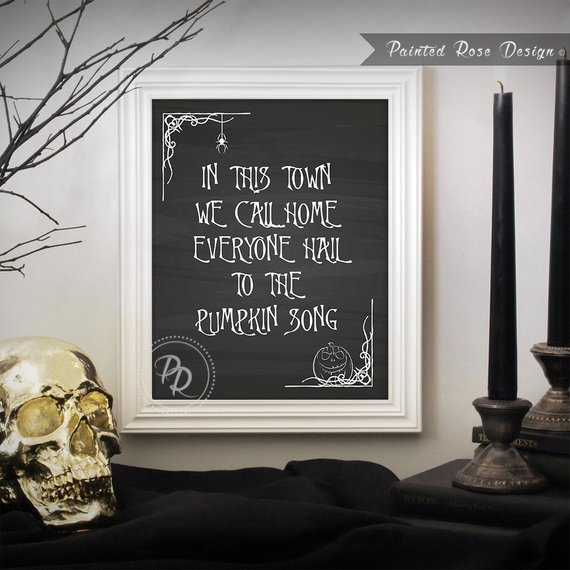 Art Print- Nightmare Before Christmas Pumpkin Song Halloween Tim